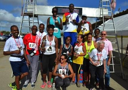 De winnaars van de RRCK Walk Race