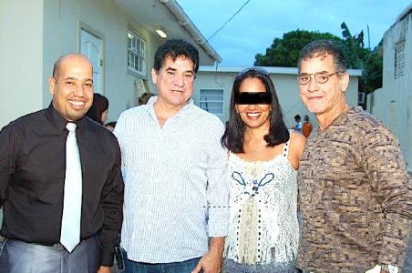 Bient 2008-2015. Vlnr: Luigi dossantos, George 'jorge' Jamaloodin en Robbie dos Santos