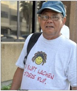 Blog Arthur 'je blijft lachen op deze klip' Donker | Foto Persbureau Curacao