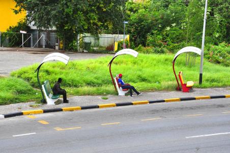 Bus halte | Foto Persbureau Curacao