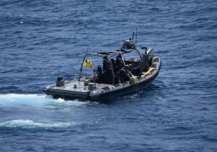 Het stationsschip in de West, Zr.Ms. Groningen, onderschept 128 kg cocaine in de nabijheid van St. Maarten.