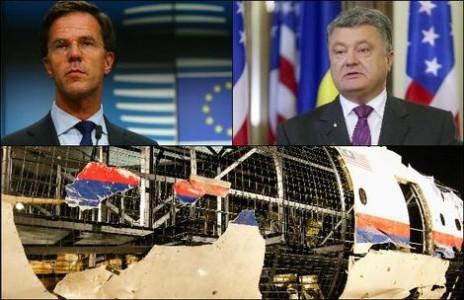 Links: premier Rutte. Rechts: de Oekraïense president Porosjenko | Hollande Hoogte