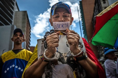 Venezuela-protest-honegr vrijheid