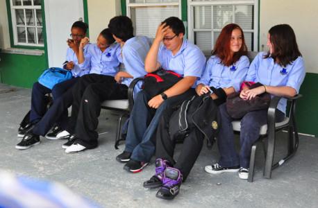 Sabaanse schoolkinderen zijn dikker geworden | Foto Persbureau Curacao