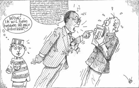 Rutsel Martha-Schotte Van der Dijjs Huub Willems civiele enquete | Cartoon Antilliaans Dagblad