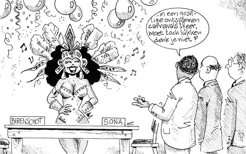Vredescommissie conflict Sona-Berenschot | AD cartoon