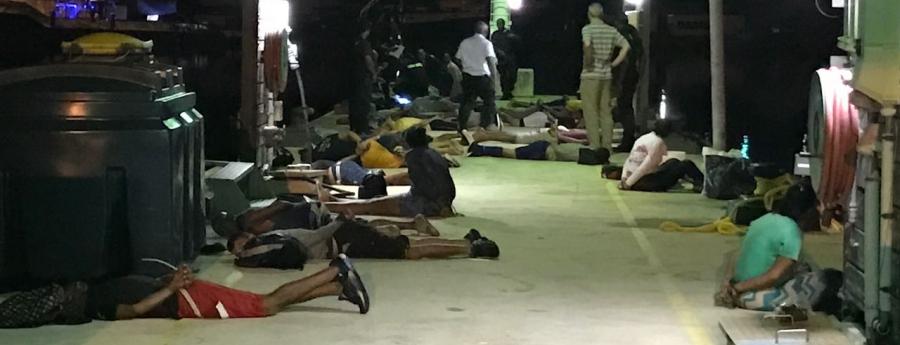 19 mannen en 3 vrouwen | Foto Kustwacht Caribisch Gebied