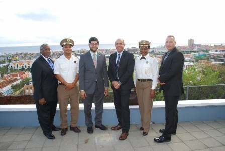 Doctor Richard Holton, Customs Director Jules Ilario, Acting CG Hormazd Kanga, Lieutenant Francisco Fernandez Varressa Elisabeth, and Sergeant Dennis Jacobson.