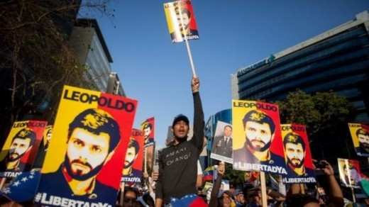 Rallies have been held in Caracas to demand the release of jailed opposition leaders