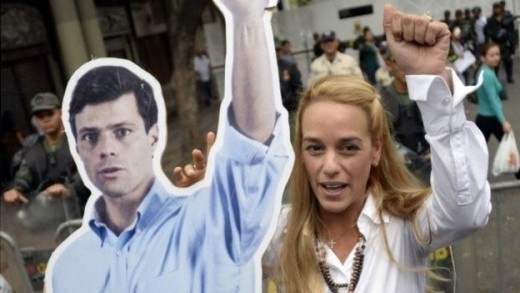 Leopoldo Lopez's wife, Lilian Tintori (right) welcomed the passing of the bill | Getty