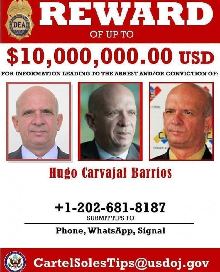 LC   Ex-inlichtingenchef Venezuela wil zich overgeven aan de VS