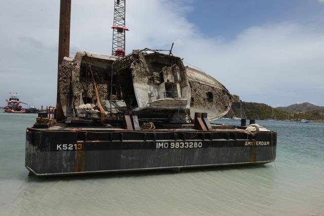NTR | Scheepswrakken na orkaan Irma geruimd uit Simpsonbay Lagoon