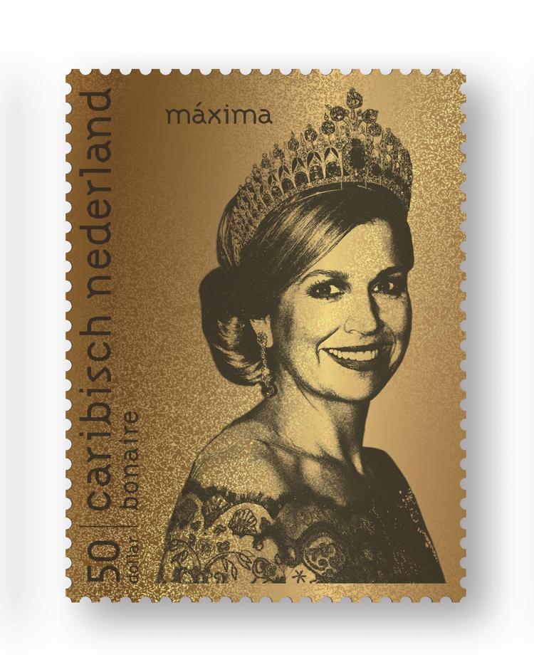 PBC | Bonaire krijgt gouden postzegel van Máxima