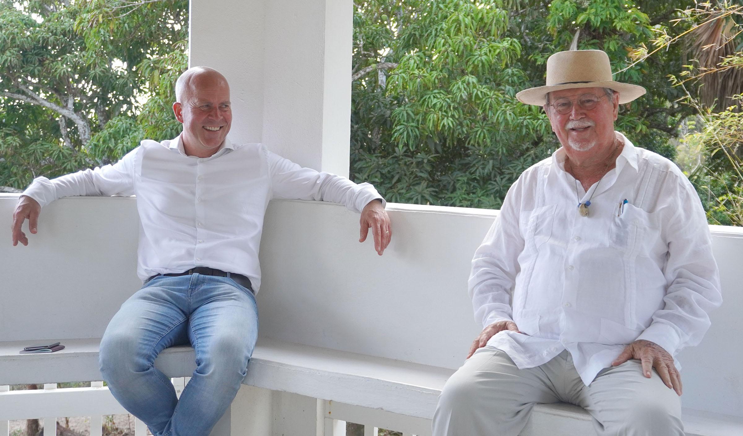 PB | State Secretary Knops arrives on Saba